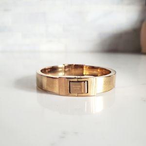 Michael kors rose gold bangle bracelet